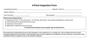 4 Point Inspection Form